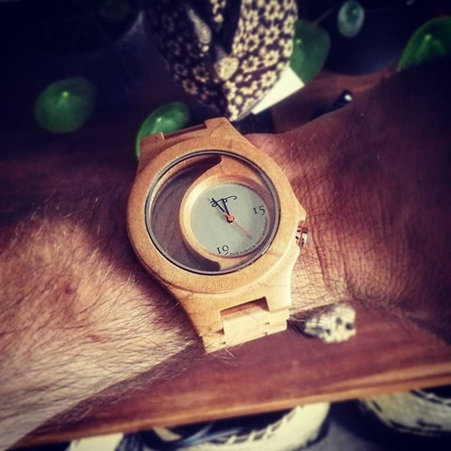 The first one with the new wooden look through watch of the dutch fashion designer @wwwjosje s' (Jos Baijens) 10th collection! Only 150 pieces made! #wood #wooden #look #through #watch #houtenhorloge #horloge #creative #first #epic #creation from the #dutch #fashion #designer #creator #josbaijens #denbosch #shertogenbosch #customer #partner of #thewiltcreative #twc